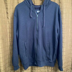 Smith's Workwear blue Waffle knit Hooded Zip Up L